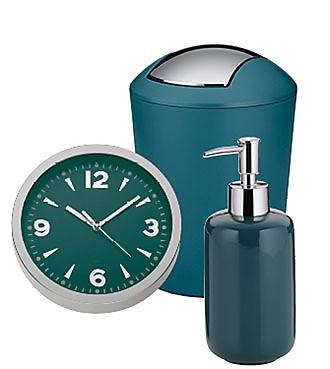 Uhr Schwingdeckeleimer Petrol