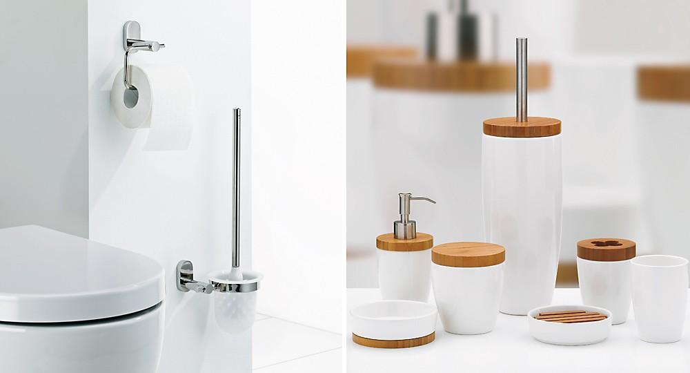 WC-Garnituren von kela zur Wandmontage im Set mit Badaccessoires