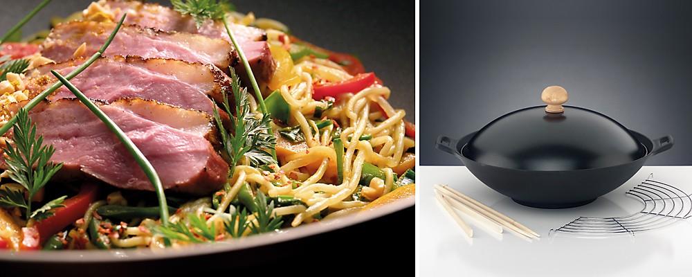 Wok-Gerichte. Ideen für Wok Rezepte und typisches Wok Gemüse