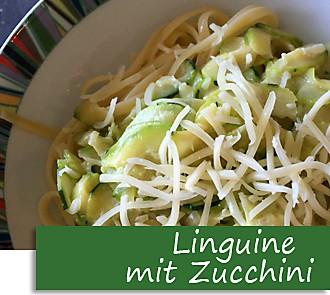 Rezeptbutton Linguine mit Zucchini