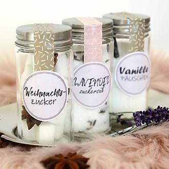 Liebevolle Geschenke - Aromatisierter Zucker selbstgemachte Verpackung
