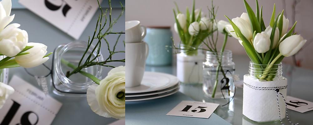 Tischdeko Tulpen Frühlingskaffee Kalenderblatt Header