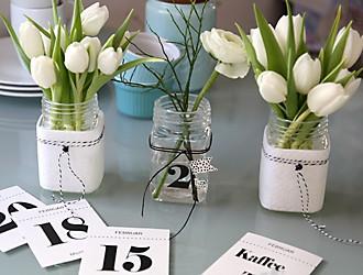 Tischdeko Tulpen Impression