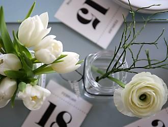 Tischdeko Tulpen von oben