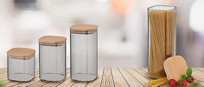 Vorratsdose getoentes Glas