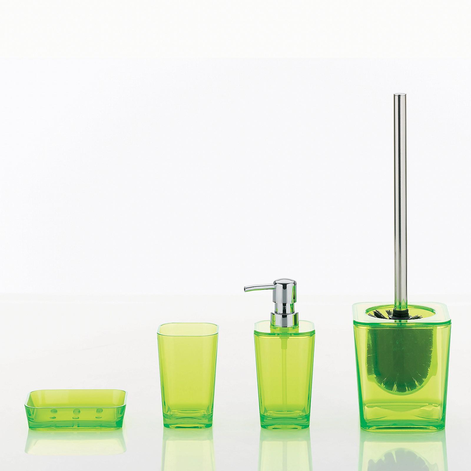 Zahnputzbecher Mirage Kela Metal grün Glas