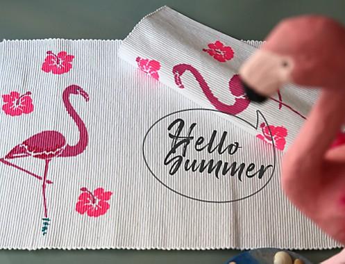 Tischset Flamingo Dekoration Idee 2 Summer
