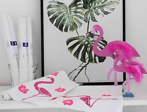 Tischset Flamingo Dekoration Idee 1