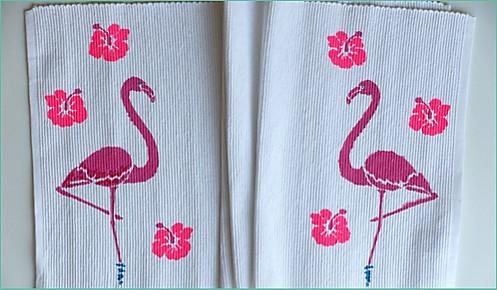 Tischset Flamingo Step 4 fertige Sets